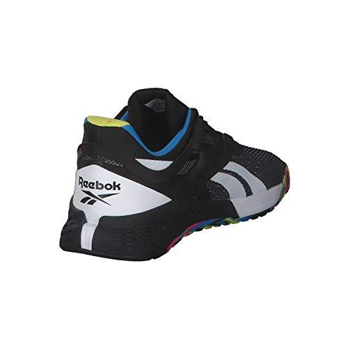 Reebok Nano X, Zapatillas de Deporte para Hombre, Negro/HORBLU/CHARTR, 45 EU