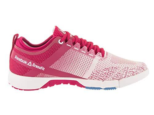 Reebok New Crossfit Grace - Zapatillas de entrenamiento cruzado para mujer, color rosa, blanco/azul/plateado 5