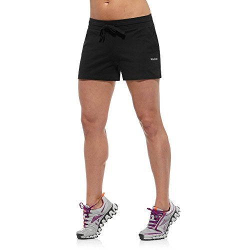 Reebok pantalones cortos para mujer, color - negro, tamaño L