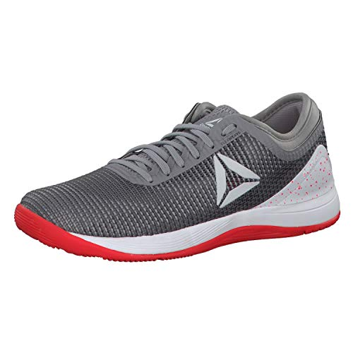 Reebok R Crossfit Nano 8.0, Zapatillas de Deporte Interior para Mujer, Multicolor (Shark/Tin Grey/Ash Grey/Neon Red/White 000), 37 1/3 EU