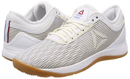 Reebok R Crossfit Nano 8.0, Zapatillas de Deporte para Niñas, Blanco (White/Classic White/Excellent Red/Blue/Gum White/Classic White/Excellent Red/Blue/Gum), 35.5 EU