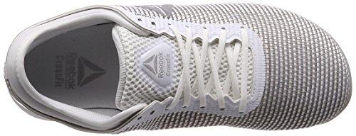 Reebok R Crossfit Nano 8.0 Zapatillas de Entrenamiento Hombre, Blanco (White/Skull Grey/Silver 0), 48.5 EU (13 UK)