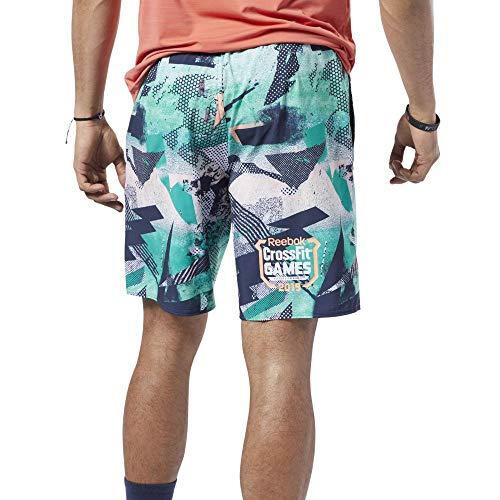 Reebok RC Speed Short Games Pantalón Corto, Hombre, Emerald, XL