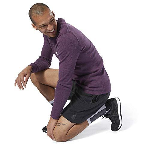 Reebok RC Speedwick Short Pantalón Corto, Hombre, Negro/Gravel, L