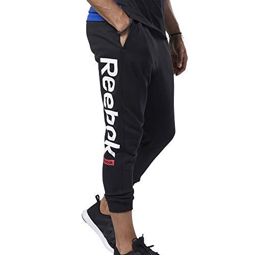 Reebok Te Big Logo Jogger Hombre, Negro, L