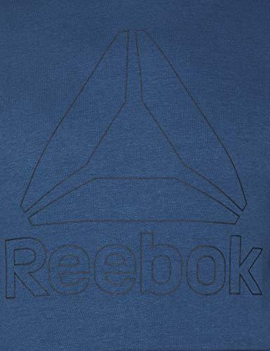 Reebok TE Big Logo Sudadera, Hombre, Azul (bunblu), M