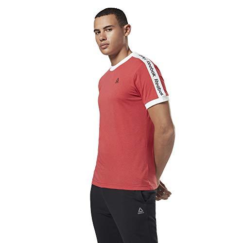 Reebok Te Bl SS Graphic tee Camiseta, Hombre, rebred, L