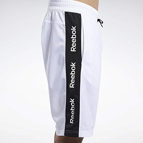 Reebok Te Linear Logo Short Pantalón Corto, Hombre, Blanco, L