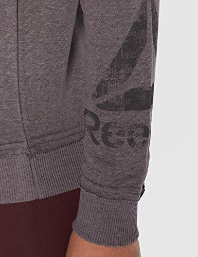 Reebok TE Marble Logo FZ Sudadera, Mujer, Gris (Almost Grey), S