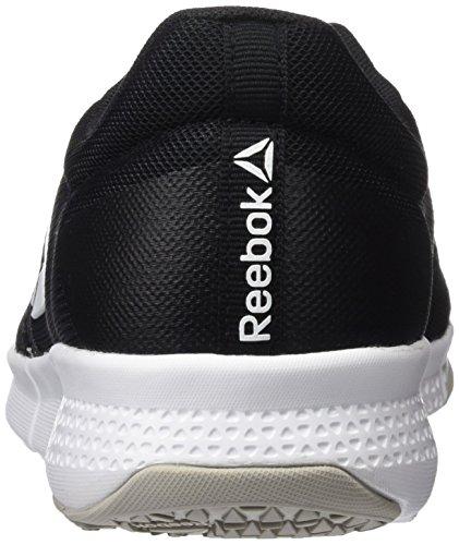 Reebok Trainflex Lite, Zapatillas de Deporte Hombre, Negro (Black/Skull Grey/White), 42 EU