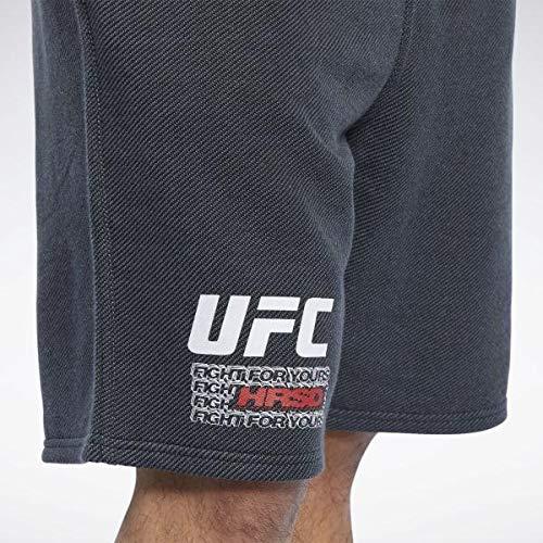 Reebok UFC FG Fight Week Short Pantalón Corto, Hombre, Negro, S
