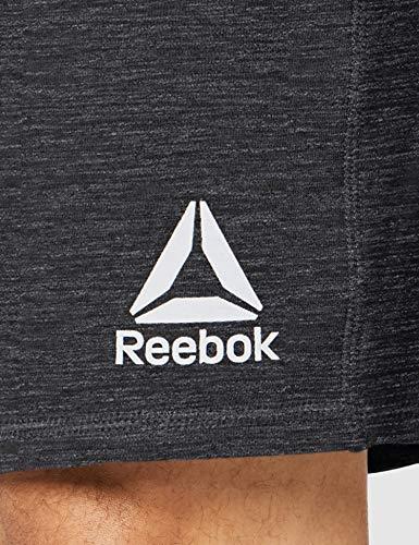 Reebok UFC FG Fight Week Short Pantalón Corto, Hombre, Negro, XL