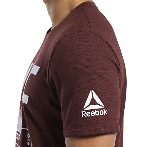 Reebok UFC FG Fight Week tee Camiseta, Hombre, brnsie, M