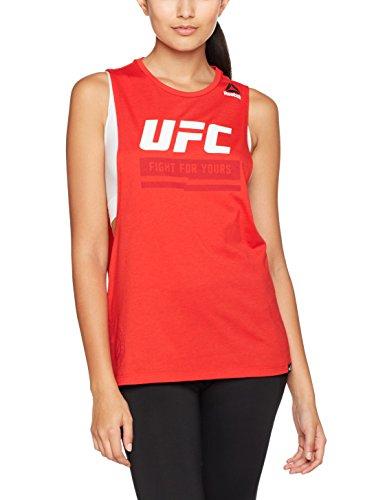 Reebok UFC Fg Logo Tank Camiseta de Tirantes, Mujer, Rojo (Prired), M