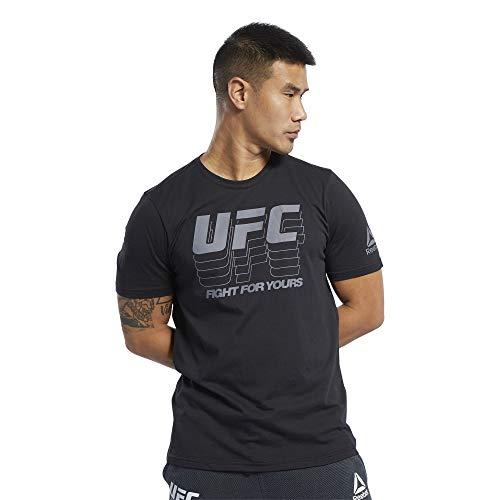 Reebok UFC FG Logo tee Camiseta, Hombre, Negro, M