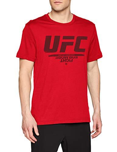 Reebok UFC FG Logo tee Camiseta, Hombre, prired, XL