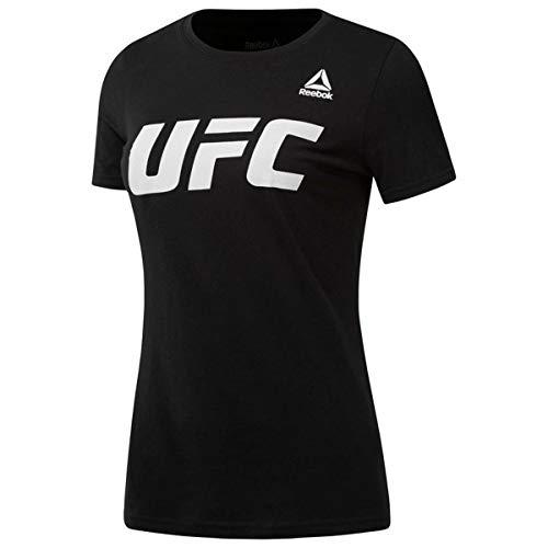 Reebok UFC FG Logo tee Camiseta, Mujer, Negro (Negro), S