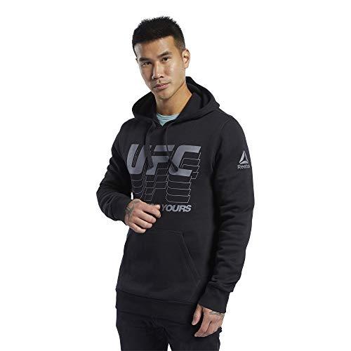 Reebok UFC FG Pullover Hoodie Sudadera, Hombre, Negro, S