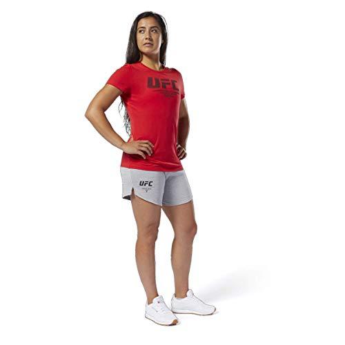 Reebok UFC Fight Week - Pantalón Corto para Mujer, UFC Fight Week - Pantalón Corto, Mujer, Color Cráneo Gris, tamaño Small