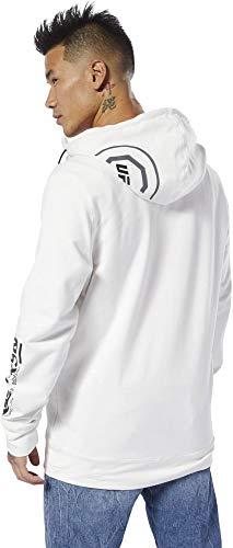 Reebok UFC FK Blank Walkout Hood Sudadera, Hombre, Chalk/Negro, XS