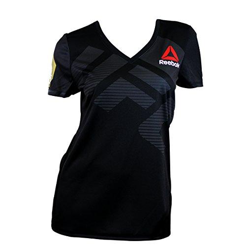 Reebok UFC FK Jjz Jersey Camiseta térmica, Mujer, Negro (Negro/Gravel), S