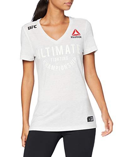 Reebok UFC FK Ultimate Jersey Camiseta, Mujer, Chalk, XS