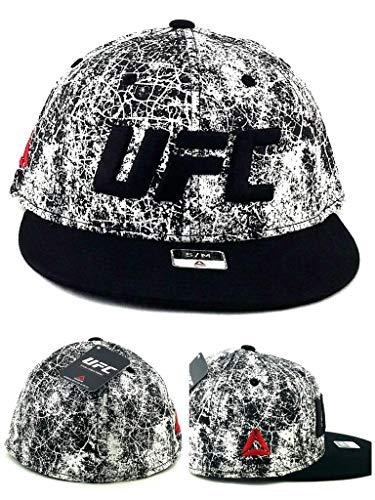 Reebok UFC Nueva MMA Fighters Flex Negro Blanco mármol Era Ajuste Ajustable Sombrero Cap S/M