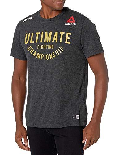 Reebok UFC Walkout - Camiseta de Manga Corta para Hombre, UFC, Walkout Jersey Franquicia, Hombre, Color Negro y Dorado, tamaño XX-Large