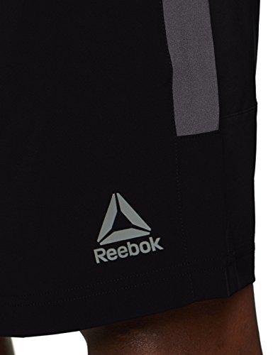 Reebok Wor Woven Pantalones Cortos, Hombre, Negro, S