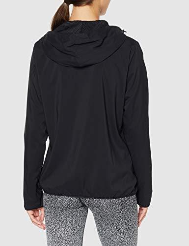 Reebok Woven Sudadera con capucha y cremallera completa, negro, XS