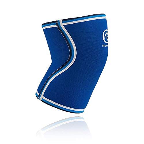 Rehband Bandage Kniebandage Retro Neopren - Rodillera de Voleibol, Color Azul, Talla M
