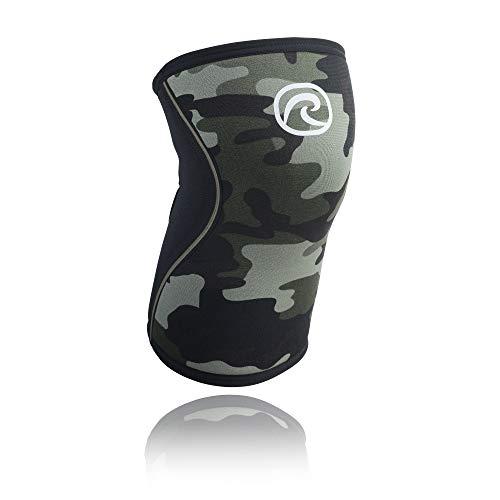 Rehband Kniebandage Neopren 5 mm - Rodillera de voleibol, Camuflaje, L