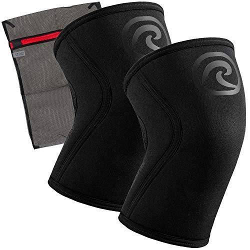 Rehband Rodillera de Neopreno de 7 mm [1 par] - Rodillera + Ziatec rete lavanderia - Power Edition, tamaño:L, Color:carbón