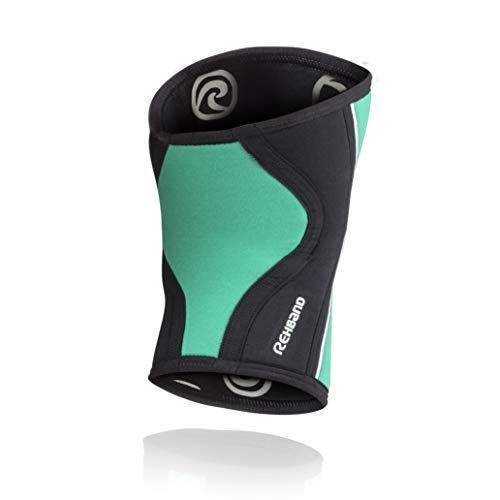 Rehband RX Knee Sleeve Rodillera, Unisex Adulto, 105307, Verde/Negro, Medium