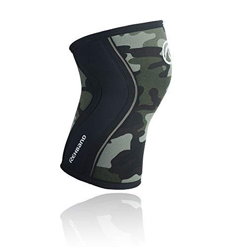 Rehband RX Knee Support 7mm Neopreno Vendaje, Unisex, RX Knee Support 7 mm Neopren, Camuflaje, Extra-Small