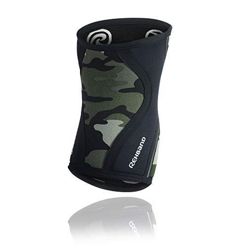 Rehband RX Knee Support Rodillera de Neopreno, 7 mm, Unisex, RX Knee Support 7mm Neopren, Camoflage, Medium