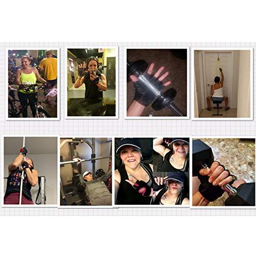 Remebe Guantes Gimnasio para Hombre y Mujer, Guantes de Fitness, Guantes de Entrenamiento, Gym Guantes Transpirable con Protección Completa de Muñeca y Palma para Levantamiento de Pesas, Musculación