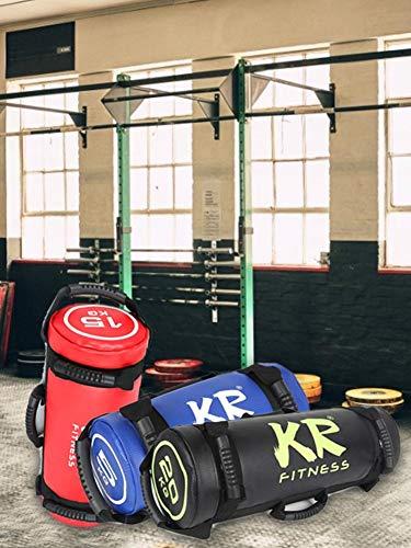 Renoble Sandbag - 5kg 10kg 15kg 20 Kg Saco De Arena Fitness - Power Bag con 6 Asas Y Cremallera para Levantamiento De Pesas, Levantamiento De Pesas, Ejercicio, Carrera (1pcs/Color Al Azar) Stylish