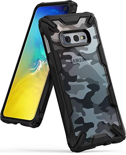 Ringke Fusion X Diseño DDP Compatible con Funda Galaxy S10e Semi-Opaco PC Parte Posterior con TPU Bumper Elegante Proteccion Cover para Galaxy S10e (2019) - Camo Black
