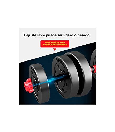 Riscko Wonduu Juego De Mancuernas 2 En 1 con Barra Ajustable Peso Total 10 Kg - 15 Kg - 20 Kg - 25 Kg - 30 Kg - 40 Kg Y 50kg 15