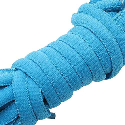 rismart Ovalado Atletismo Zapatos Cordones - 6 mm La mitad Redondo - Ideal para correr, Baloncesto Zapatos and Zapatillas moda P09(Cielo azul,70 cm (1 par))