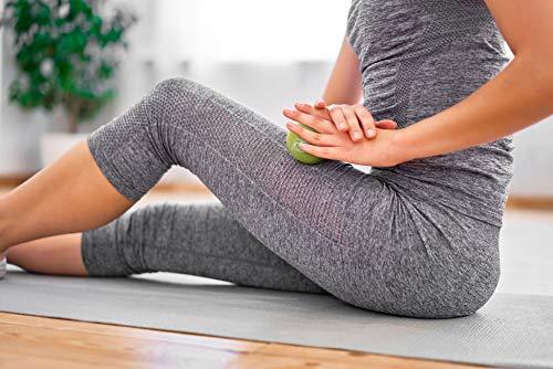 ritfit cacahuete masaje bola de Lacrosse para punto de liberación miofascial, disparador terapia muscular, nudos, Yoga y terapia. Bono sola bola de masaje, Púrpura / púrpura