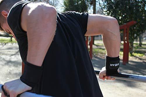 Roar® Calleras para Crossfit Hombre, Calleras Crossfit Mujer, Guantillas Gimnasio, Calleras Gimnasia artistica, Crossfit Hand Grips, Callera Calistenia,Cuero Sintético, Grip Gloves, Cayeras (M)