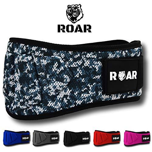 Roar® Cinturón musculación para Entrenamiento de Levantamiento de Peso Crossfit Powerlifting Halterofilia Pesas Gimnasio (Camuflaje, M)