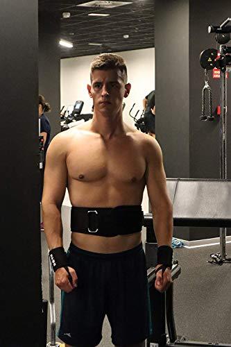 Roar® Cinturón musculación para Entrenamiento de Levantamiento de Peso Crossfit Powerlifting Halterofilia Pesas Gimnasio (Negro, L)