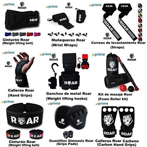 Roar® Cinturón musculación para Entrenamiento de Levantamiento de Peso Crossfit Powerlifting Halterofilia Pesas Gimnasio (Negro, M)