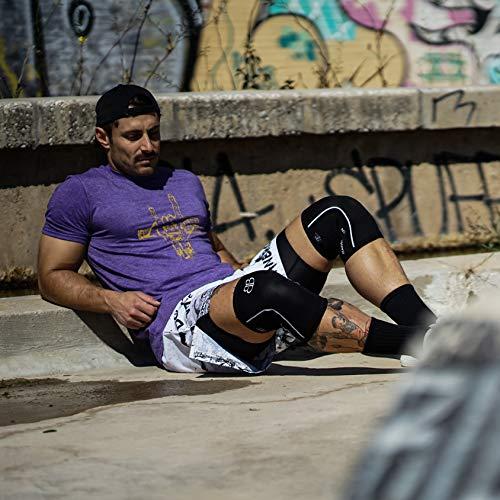 RODILLERAS Black Lifter Banbroken (2 unds) - 5mm Knee Sleeves - Halterofilia, deporte funcional, CrossFit, Levantamiento de Pesas, Running y otros deportes. UNISEX. (XL)