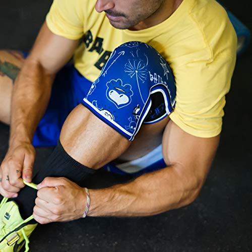 RODILLERAS BLUE DRAW (2 unds) - 5mm Knee Sleeves - Halterofilia, deporte funcional, CrossFit, Levantamiento de Pesas, Running y otros deportes. UNISEX 1 PAR AZUL (M)