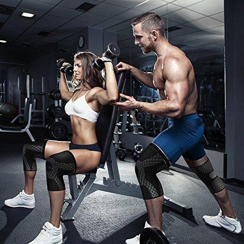 Rodilleras para Hombre y Mujer (1 Par) - Menisco y Ligamento - Crossfit - Deportiva con la Mejor Compresión de Rótula para Artritis, Correr, Crossfit, Levantamiento de Pesas, Sentadillas (X-Large)