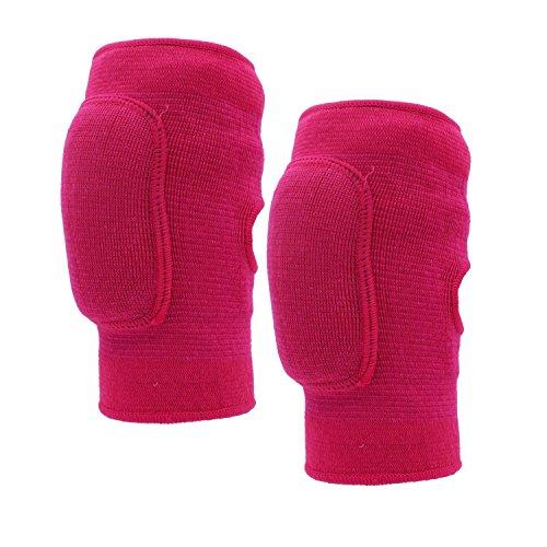 Rodilleras para niños, de Paciffico. Con protectores acolchados transpirables a prueba de golpes en la rodilla. Antideslizantes. De algodón. Para bailar o hacer deportes, [L]Rose Red